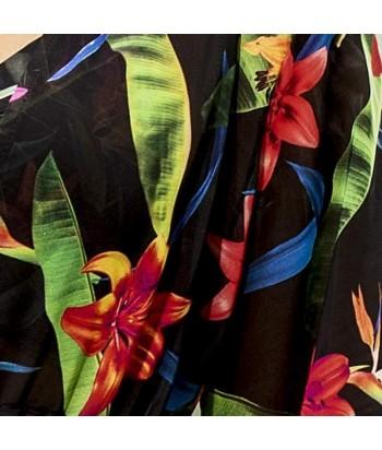 Kimono largo estampado con cordón para ajustar Material liviano y fresco