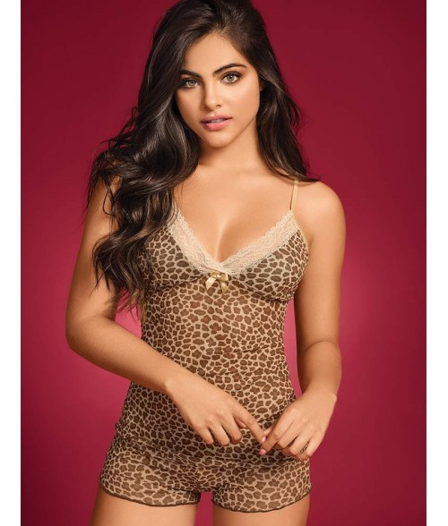 Baby Doll Dama Cachetero Animal Print