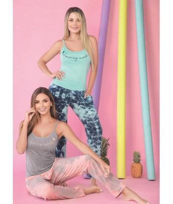 Pijama Mujer Tiras Pantalón Largo