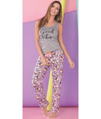 Pijama Mujer Manga Sisa Pantalón Largo