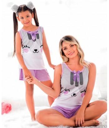 Pijama Mujer Manga Sisa Short
