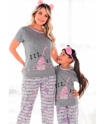 Pijama Niña Manga Corta Pantalón Largo