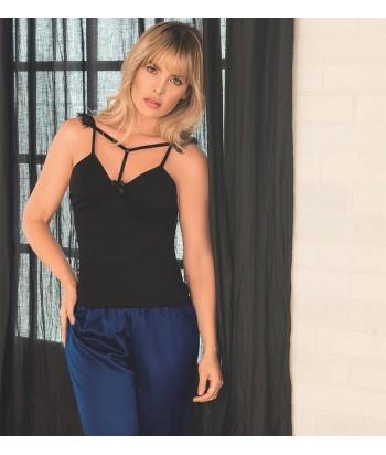 Pijama Mujer Blusa de Tiras Pantalón Largo