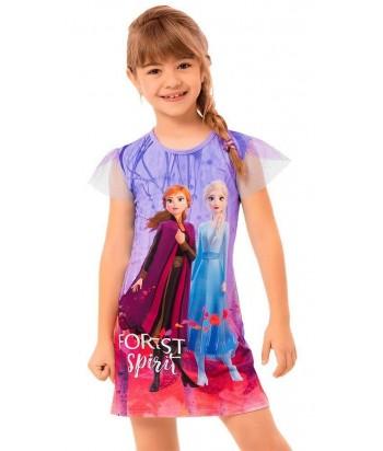 Vestido Niña Vestido Estampado Frozen 2 Anna y Elsa
