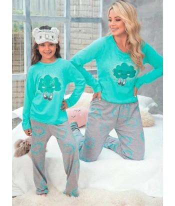 Pijama Mujer Manga Larga Pantalón