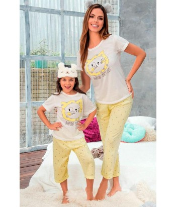 Pijama Mujer Manga Corta Capri
