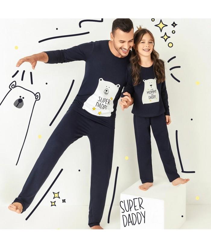 Pijama para Hombre, Cariño caballero - Azul Oscuro TALLA S