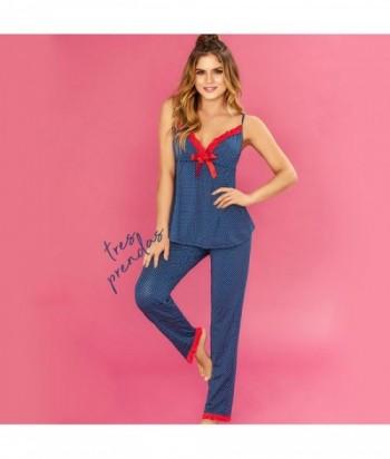 Pijama Mujer Tiras Short y Pantalón