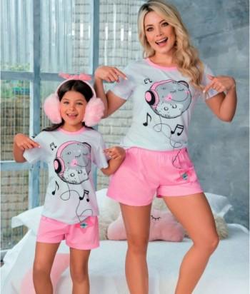 Pijama Niña Manga Corta Short