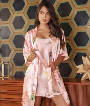 Kimono Mujer Kimono Satín
