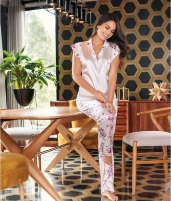 Pijama Mujer Manga Japonesa Pantalón largo