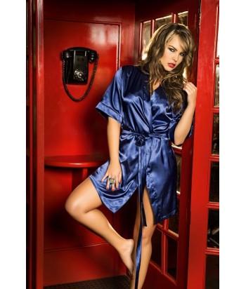 Kimono-satín-Azul nuitmujer-tu-pijama-ropa-interior-lenceria-pijama-babydoll