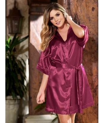 Kimono-satín-Vino tintomujer-tu-pijama-ropa-interior-lenceria-pijama-babydoll