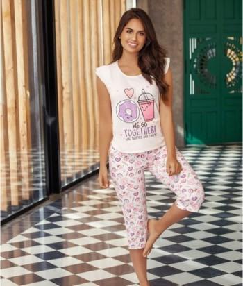 Pijama Mujer Manga Bolero Capri