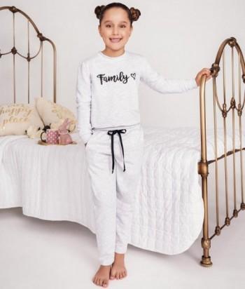 Pijama Niña Manga Larga Estampada Pantalón con bolsillos