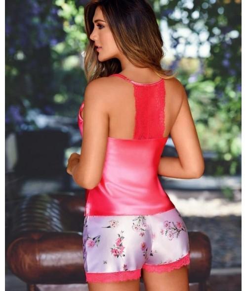 Pijama-short-top-tiras-satín-estampado-unicolor-encajes-Patillamujer-tu-pijama-ropa-interior-lenceria-pijama-babydoll