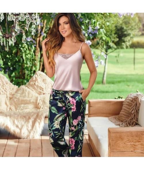 Pijama Dama Pantalón largo Satín - PalodeRosa