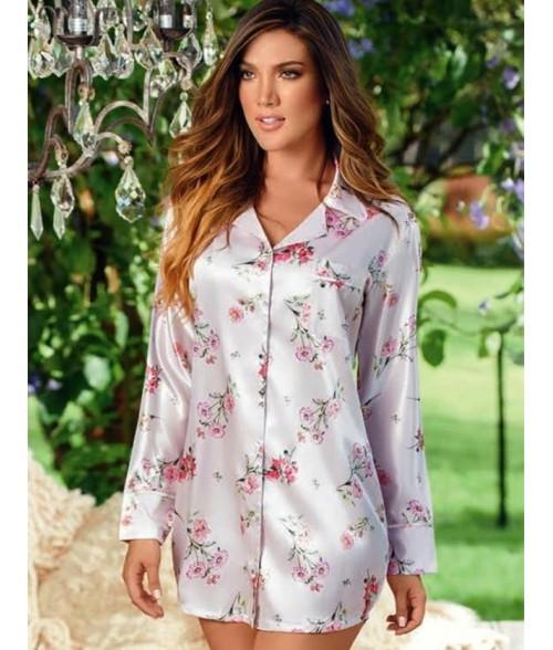 Bata-estampada-estilo-camisero-satín-Nácarmujer-tu-pijama-ropa-interior-lenceria-pijama-babydoll