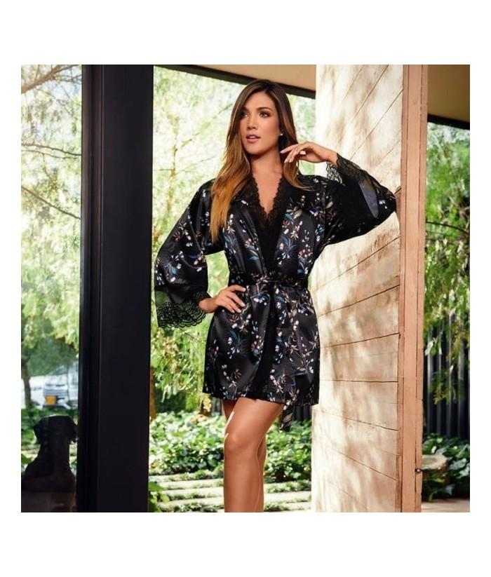 Kimono-estampado-satín-encaje-NegroEstampadomujer-tu-pijama-ropa-interior-lenceria-pijama-babydoll